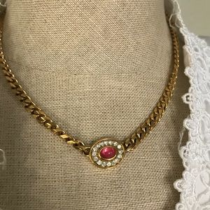 Vintage Monet charm necklace